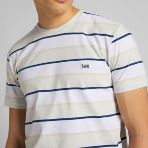 Camiseta Lee stripe blanco 2
