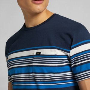 Camiseta Lee stripy bolsillo marino 2