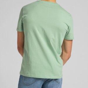 Camiseta Lee wobbly verde agua logo 3