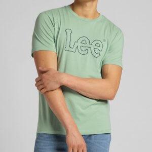 Camiseta Lee wobbly verde agua logo 2