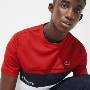 Camiseta Lacoste Sport rojo-marino 2