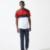 Camiseta Lacoste Sport rojo-marino 1