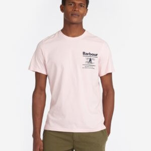 Camiseta Barbour faro rosa 1
