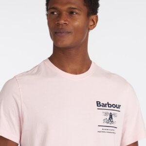 Camiseta Barbour faro rosa 2