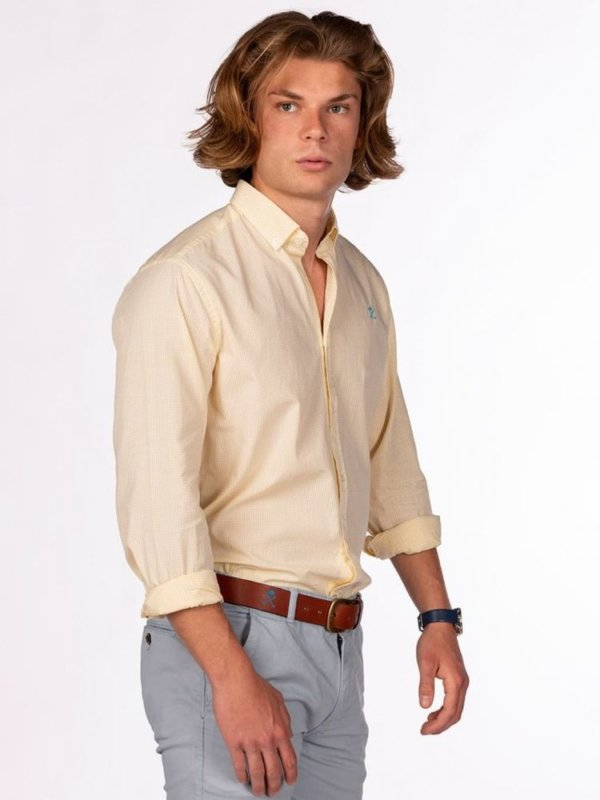 Camisa H&N amberes amarilla 3