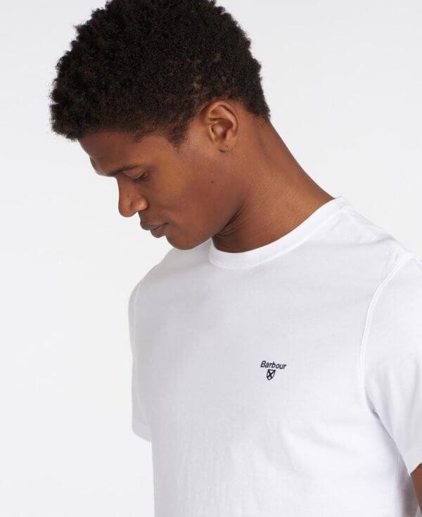Camiseta Barbour básica blanca 2