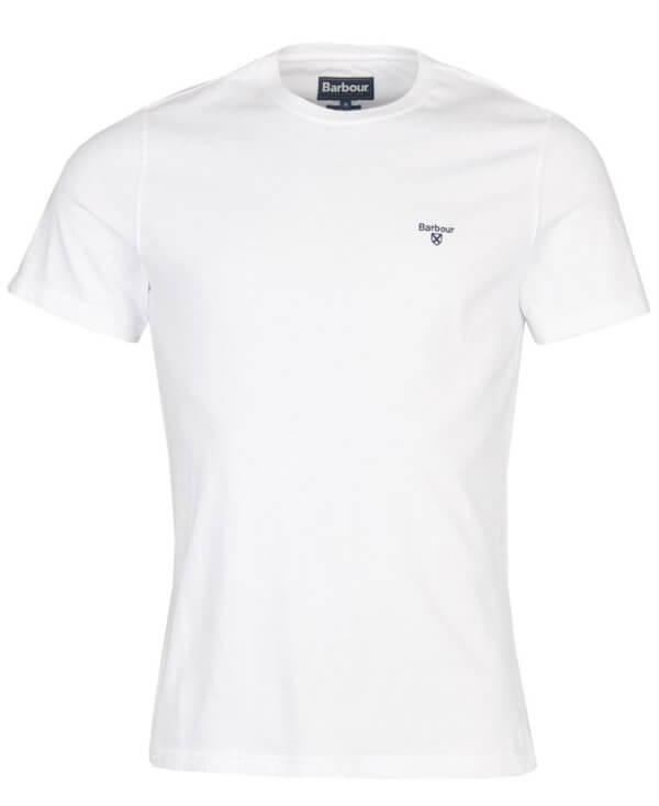 Camiseta Barbour básica blanca 3