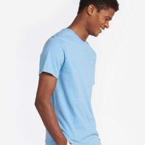 Camiseta Barbour básica celeste 1