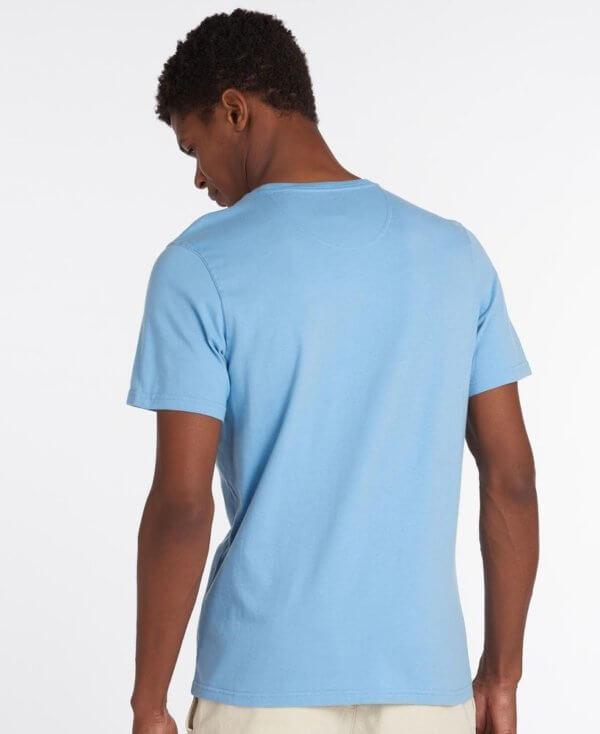 Camiseta Barbour básica celeste 3