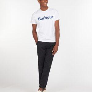 Camiseta Barbour logo heritage blanca 2