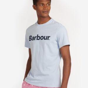 Camiseta Barbour logo heritage celeste 1