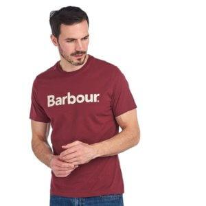 Camiseta Barbour logo heritage burdeos 1