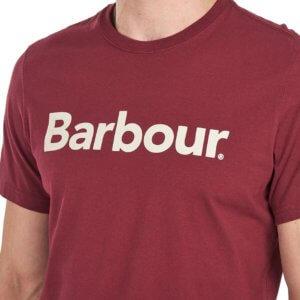 Camiseta Barbour logo heritage burdeos 2