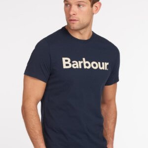Camiseta Barbour logo heritage marino 1