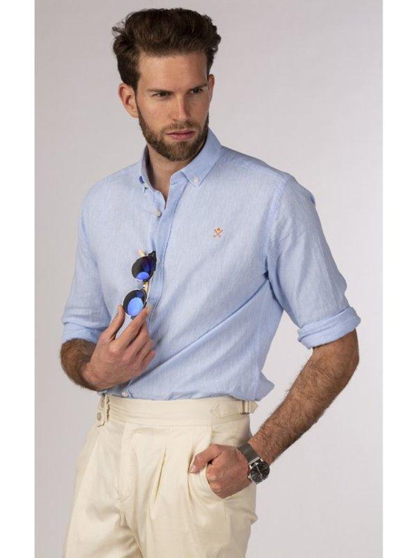 Camisa H&N los ángeles azul 3