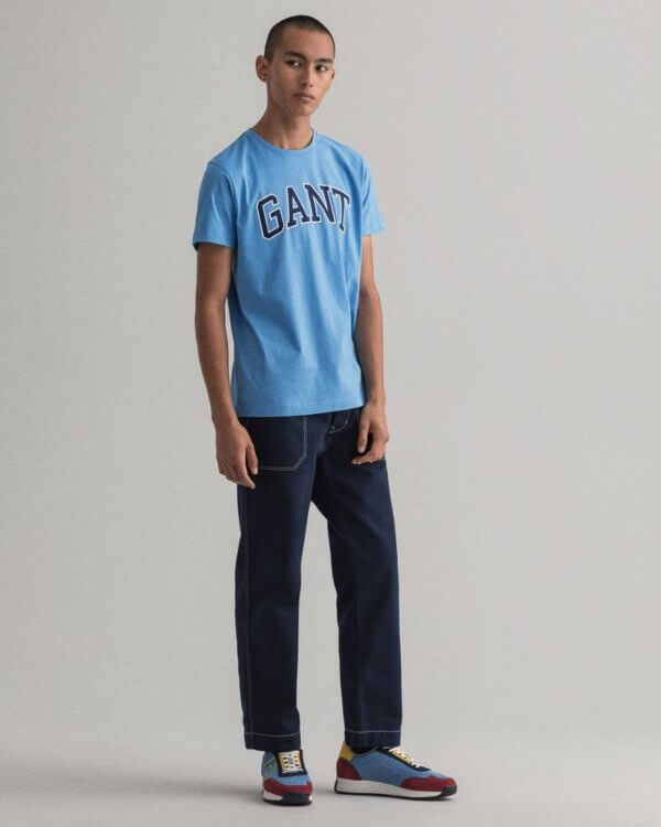 Camiseta Gant outline azul 1