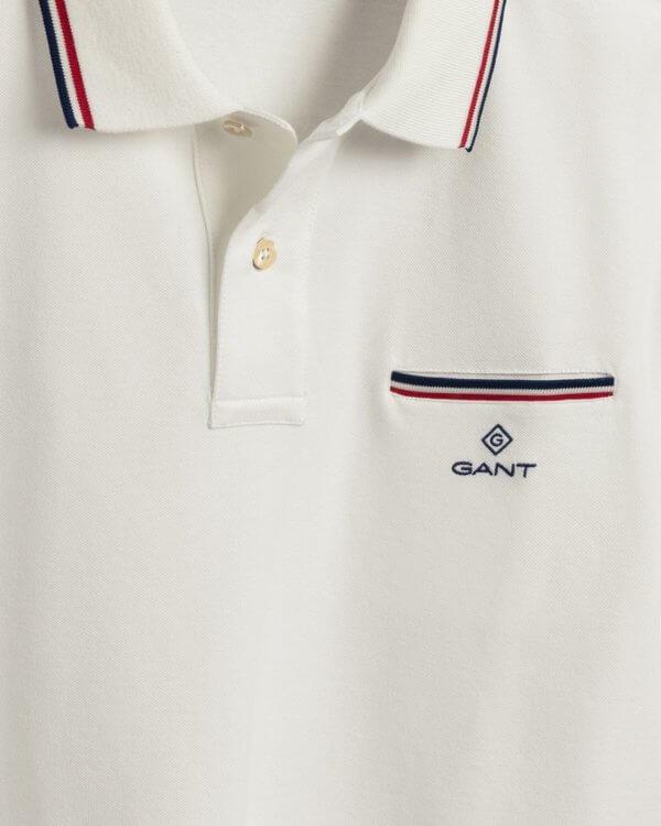 Polo Gant Eggshell blanco 3