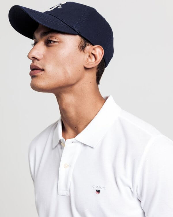 Polo Gant básico blanco 2