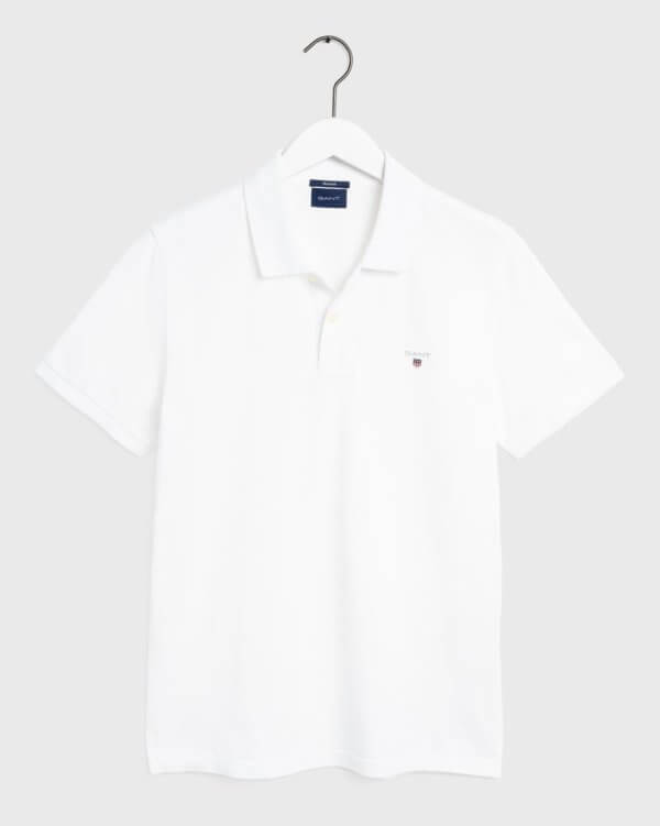 Polo Gant básico blanco 3