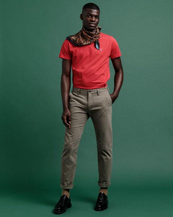 Camiseta Gant básica rosa 1