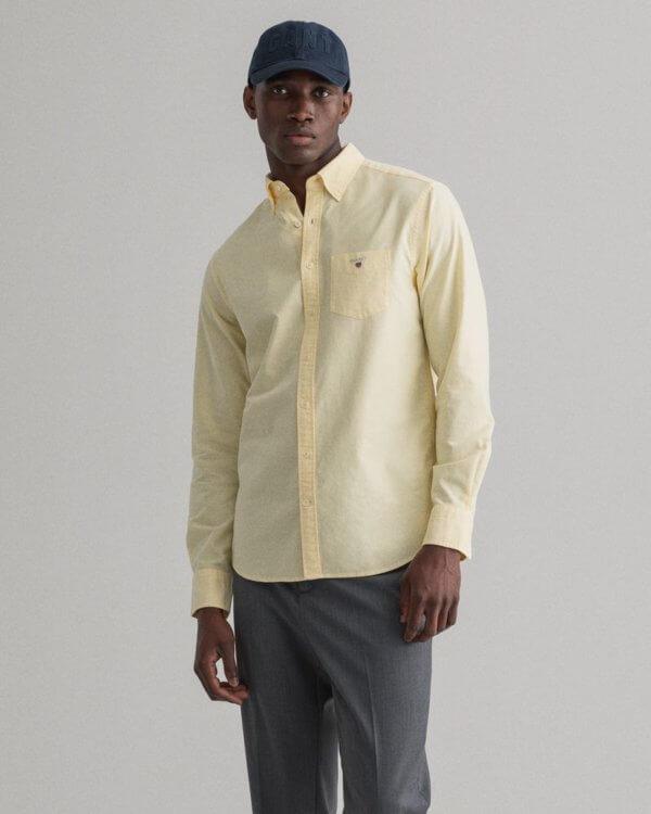Camisa Gant Brimstone amarillo 1