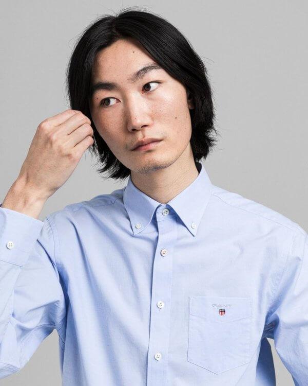 Camisa Gant Hamptons azul 1