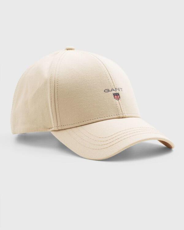 Gorra Gant beige logo 1