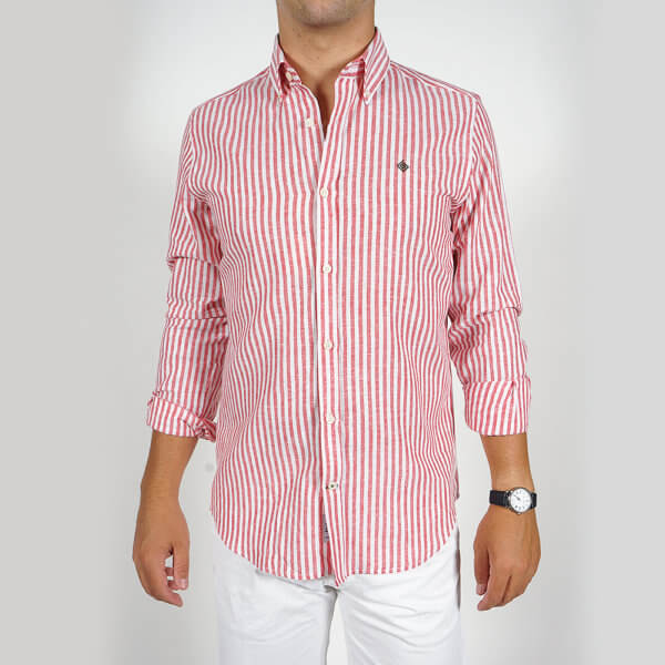 Camisa GO rayas roja 1