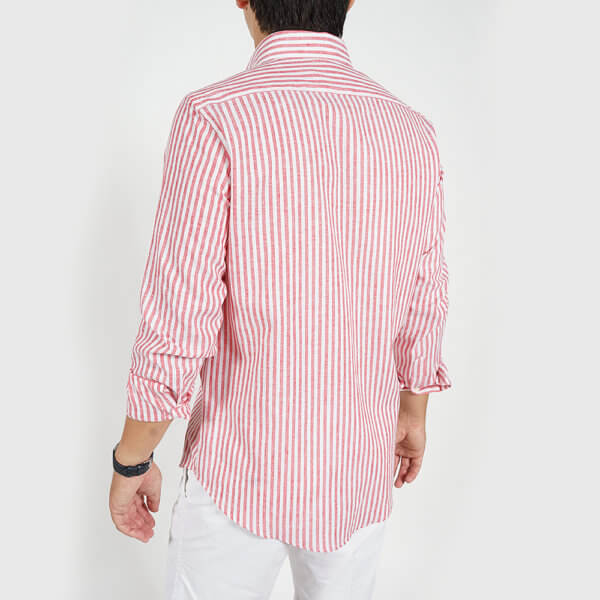 Camisa GO rayas roja 2