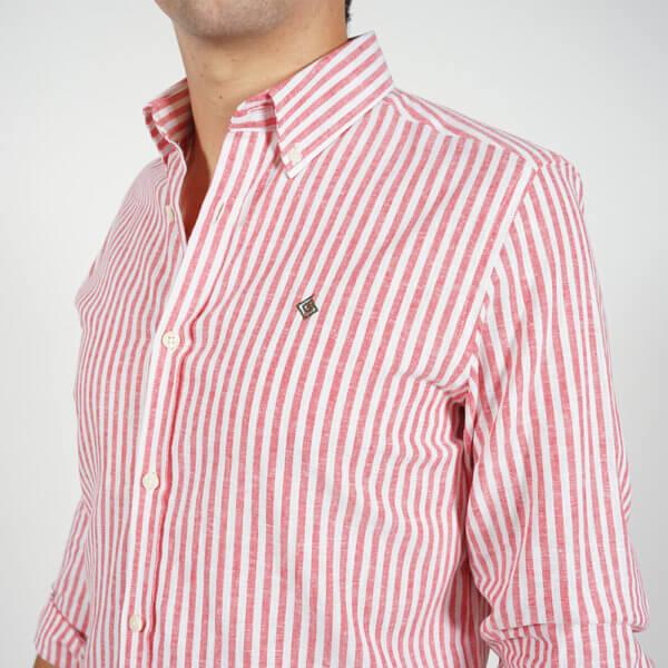 Camisa GO rayas roja 3