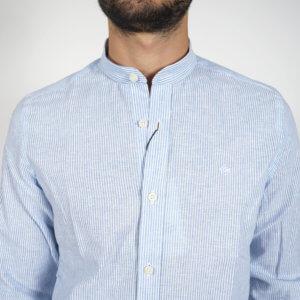 Camisa GO rayas celeste 2