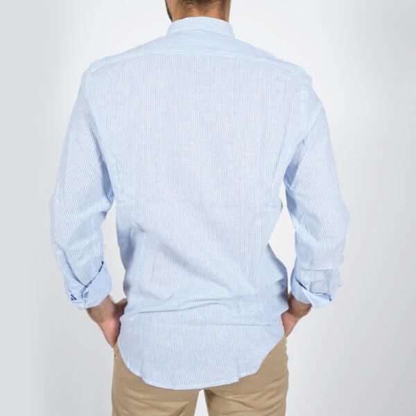 Camisa GO rayas celeste 3