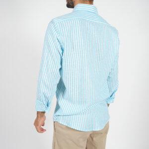 Camisa GO rayas turquesa 2