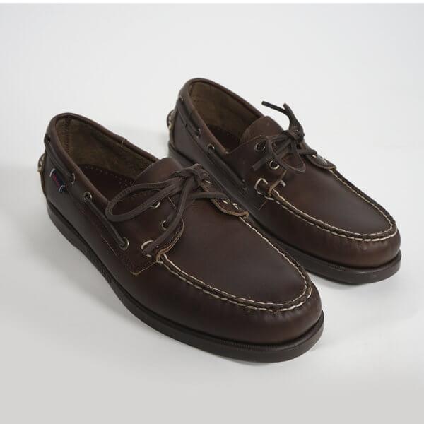 Zapatos Sebago Portland marrón oscuro 3