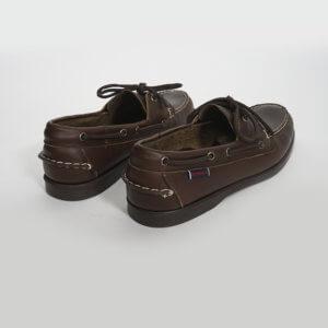 Zapatos Sebago Portland marrón oscuro 2