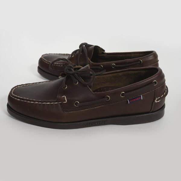 Zapatos Sebago Portland marrón oscuro 1