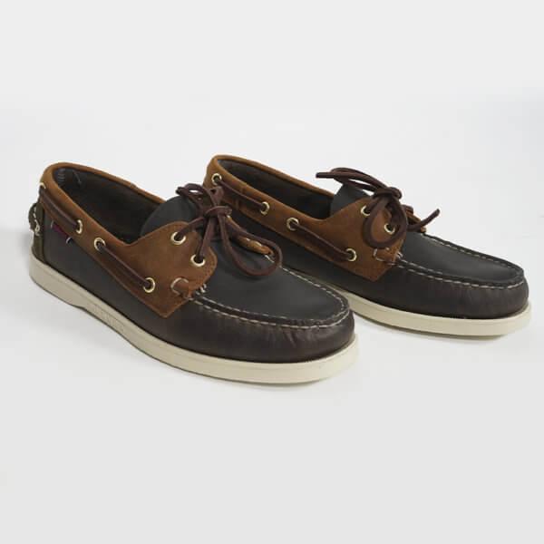 Zapatos Sebago Portland marino marrón verde 2