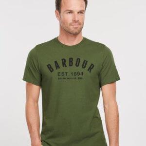 Camiseta Barbour ridge verde 1