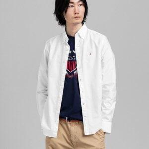 Camisa Gant oxford blanca 1