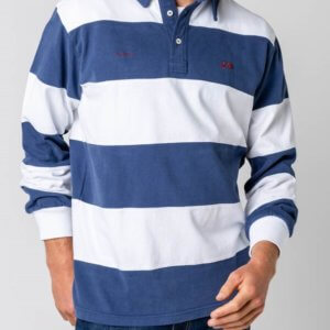 Polo Scotta 1985 rugby stripes marino 1