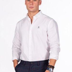Camisa H&N nos oxford blanco 1