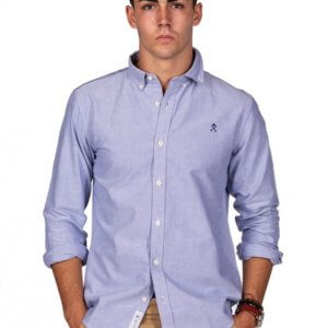 Camisa H&N nos oxford celeste 1