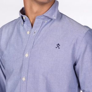 Camisa H&N nos oxford celeste 2